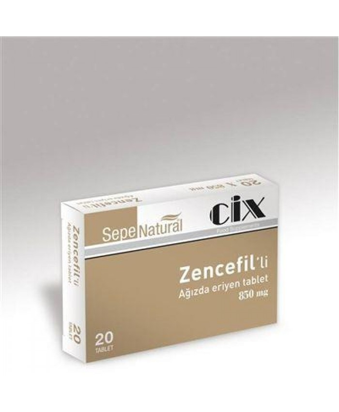 Sepe Natural Ağızda Eriyen Zencefil 20 Tablet x 850mg | Ginger