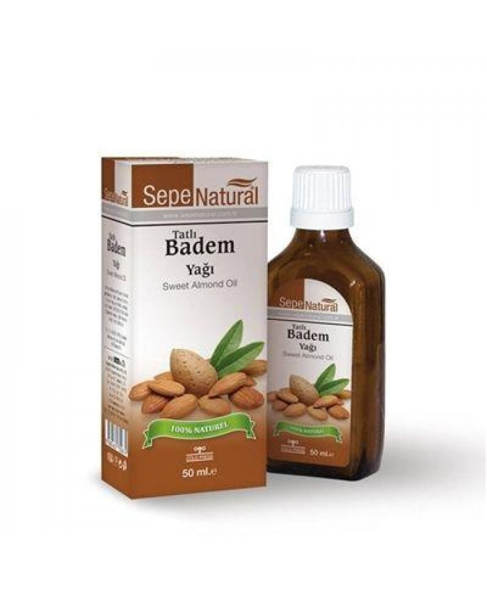 Sepe Natural Tatlı Badem Yağı 50ml | Sweet Almond Oil | Prunus amygdal